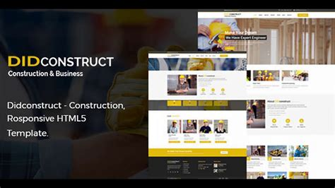 Didconstruct Construction And Business Responsive Html5 Template Themeforest Website Themeforest Website Templates Free