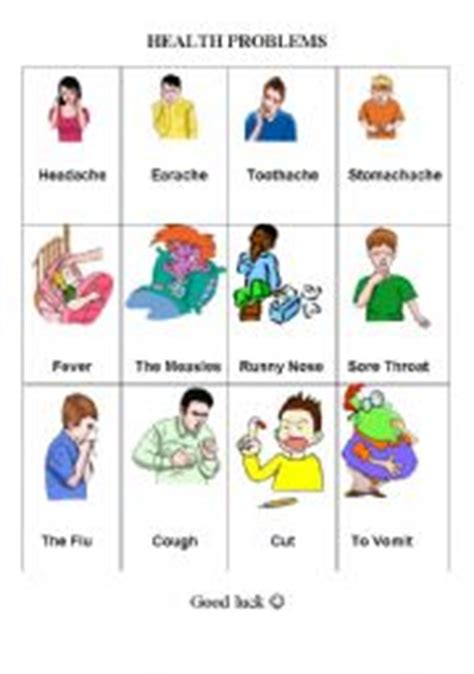 what do you call a sick alligator worksheet health problems illness sickness