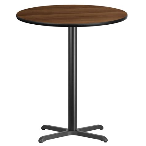 bar top 30 36 round walnut laminate table top with 30 x 30 bar