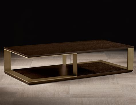Nella Vetrina Hector Luxury Italian Coffee Table In Mocha Luxury Coffee Table