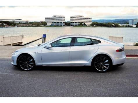 Used Tesla Used Tesla Model S 85 For Sale Silver Black San Mateo