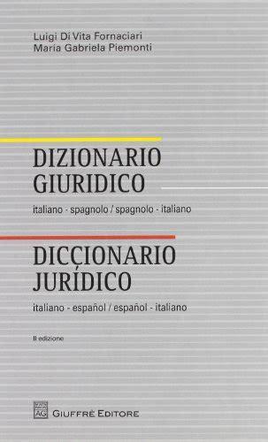 libreria spagnolo descargar libro dizionario giuridico italiano spagnolo