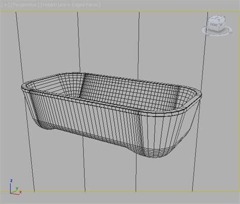 hoesch bathtub bathtub hoesch andree putman 3d model max obj 3ds fbx cgtrader com
