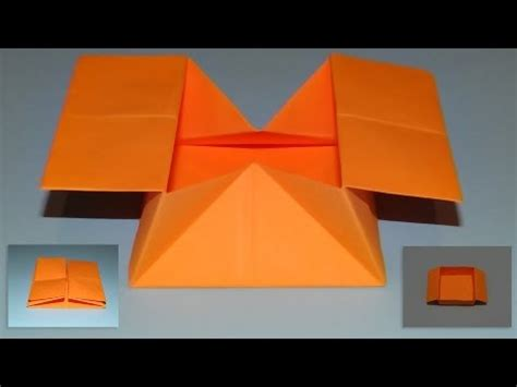 How To Make Popping Paper - how to make an origami pop out envelope box 02