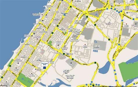 printable dubai road map map of sheikh zayed road holidaymapq com