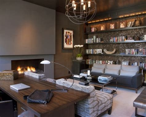 Masculine Office Decor by 33 Stylish And Dramatic Masculine Home Office Design Ideas