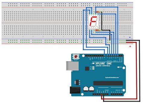 arduino tutorial 7 segment display 5 display numbers on seven segment display tutorials