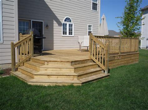 deck plans decks deckplans  elevation house plans