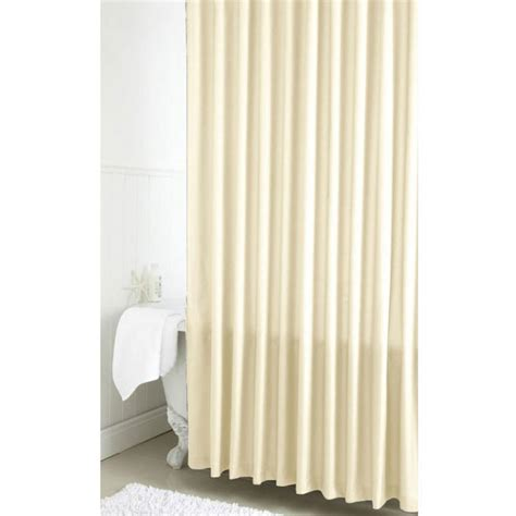pvc shower curtain croydex basics pvc ivory waterproof shower bath curtain new
