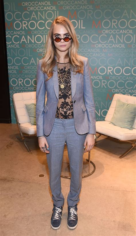 cara delevingne white suit celebrity signature styles to try glam radar
