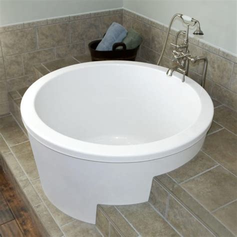 small round bathtub bathroom small clawfoot freestanding tub in brown