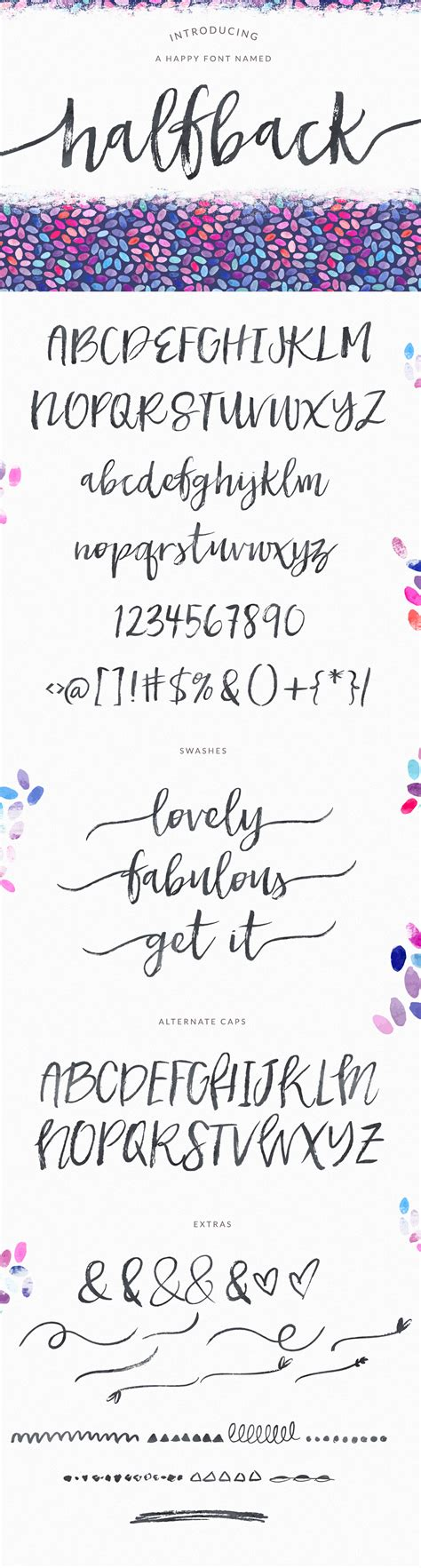 Wedding Running Fonts by Halfback A Brushed Script Font Script Fonts On