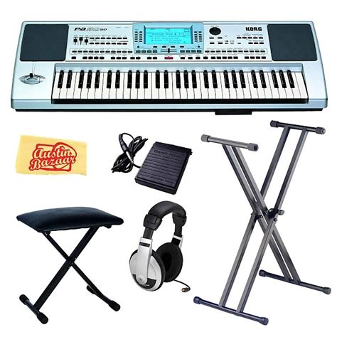 Keyboard Bekas Korg Pa 50 korg pa50sd 61 key arranger with keyboard stand bench