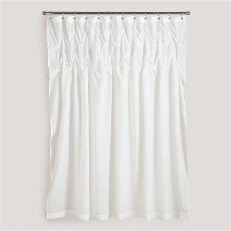 how to make pintuck curtains white pintuck shower curtain world market