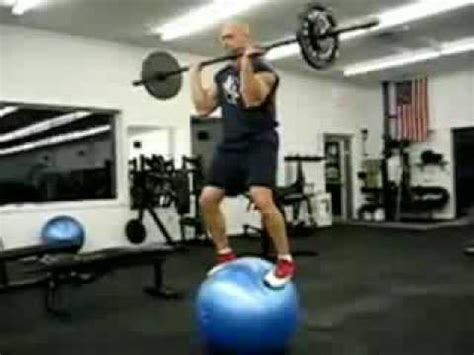 bench press stability exercise ball weight lifting youtube
