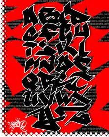 the idea of graffiti alphabet letters a z
