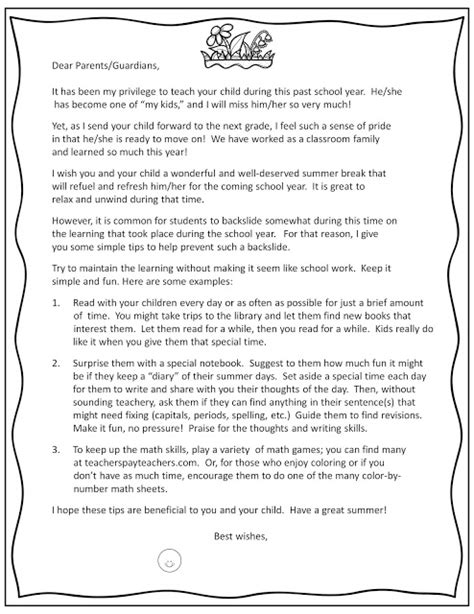 Parent Letter End Of Year Classroom Freebies Editable End Of Year Parent Letter