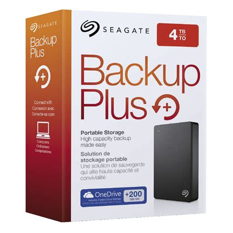 seagate 4tb backup plus 2 5 quot portable drive black