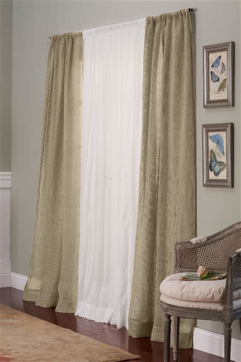 open weave drapes open weave linen drapery panel traditional curtains