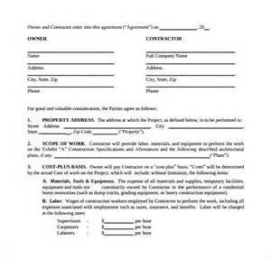remodeling contract template 8 download free documents