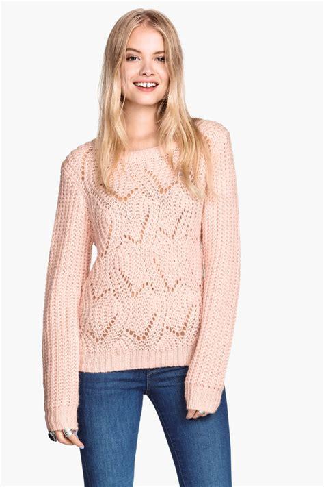 Hm Top Knit Cleo Fit L knit sweater light pink sale h m us