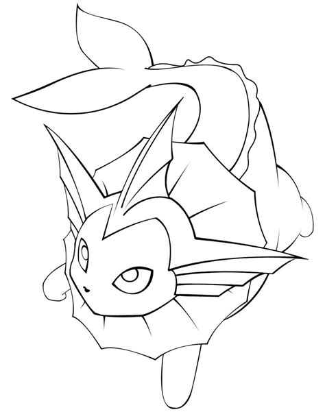 pokemon coloring pages vaporeon cg vaporeon line art by garicosdesign on deviantart