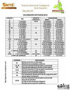 L Calendario 2016 Calendario De Pagos 2016 Homologados El Espacio