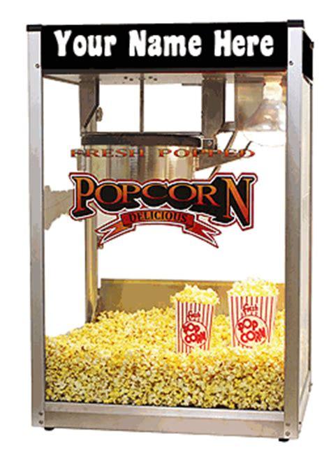 personalized custom oz  pop popcorn popper machine
