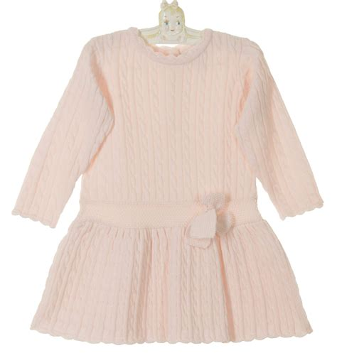 pink knits louise pink cable knit dress for toddler pink