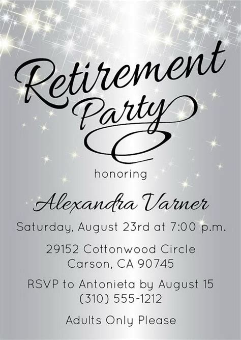best 25 retirement invitations ideas only on pinterest