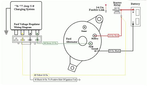 alternator wiring diagram external regulator wiring
