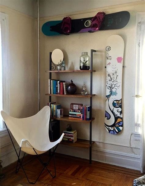 Snowboard Shelf by Snowboard Decoration And Design Racks For Your Apartment