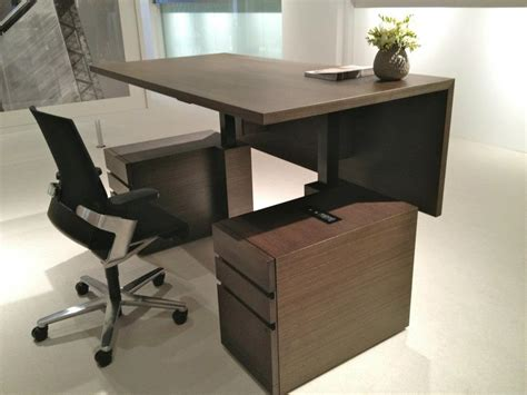 adjustable height executive desk millennia height adjustable desk lift desk concepts