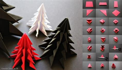 Easy Origami Decorations - do it yourself tutorials trees decorations