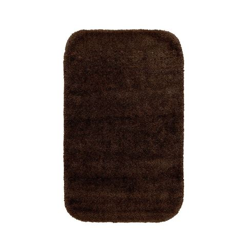 bathroom accent rugs garland rug traditional chocolate 24 in x 40 in washable
