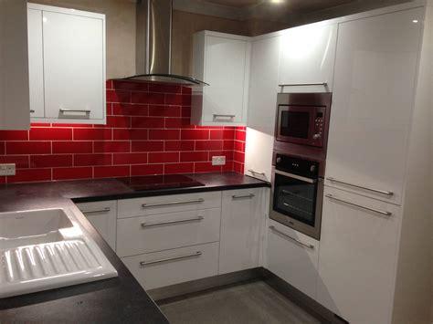 gloss white kitchens hallmark kitchen designs ringwood white and fire engine red hallmark kitchen
