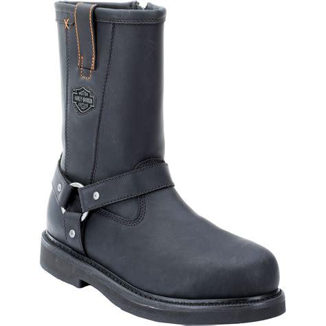 harley davidson steel toe boots harley davidson s bill 10 quot steel toe eh black leather