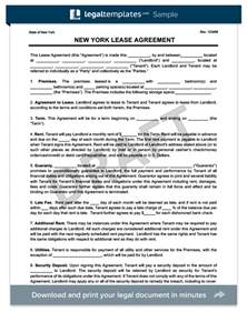 New York Lease Agreement Template new york residential lease agreement create a free