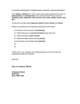 Construction Work Letter For Construction Work Delay Construction Delay Report Template