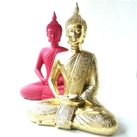 buddha home decor statues hot pink buddha statue bohemian home decor upcycled by