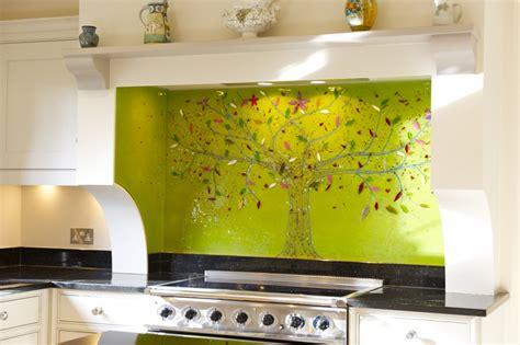 bespoke glass kitchen splashbacks coloured glass splashbacks bespoke fused glass art kitchen splashbacks tree of life
