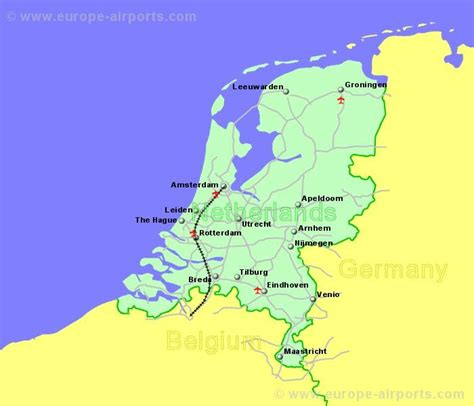 netherlands map airports airports in the netherlands or guides flights