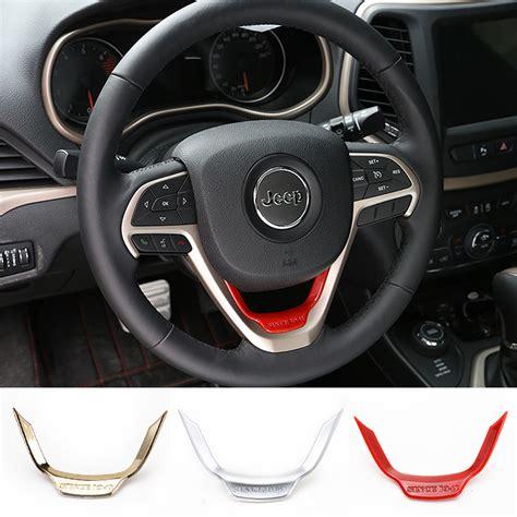 jeep interior accessories selling gold matt abs steering wheel trim molding