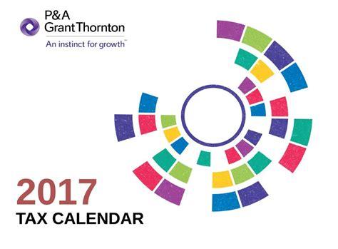 Tax Calendar 2017 Tax Calendar