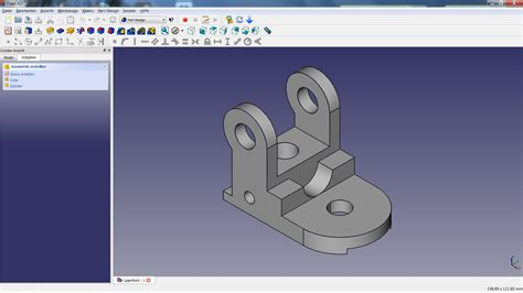 3d drawing online free freecad tutorial 04 lagerbock youtube