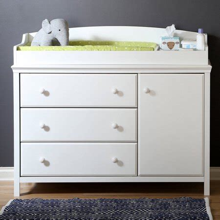 Changing Table With Removable Top South Shore Cotton Changing Table With Removable Top Finishes Walmart