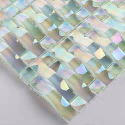 Tile Sheets For Kitchen Backsplash crystal glass mosaic stickers iridescent glass tile