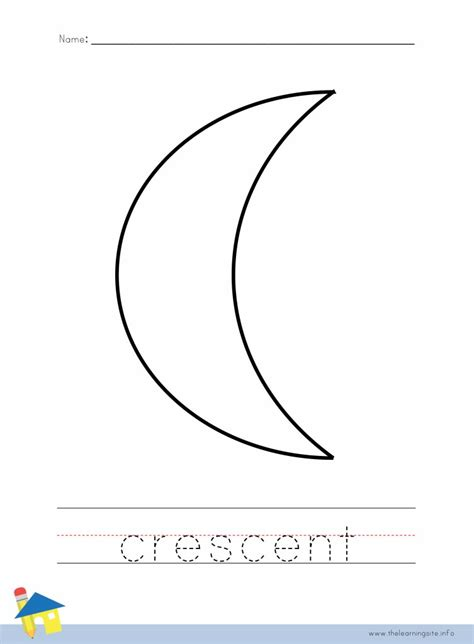 Crescent Shape Worksheets For Preschoolers by Free Coloring Pages Of Crescent Shape