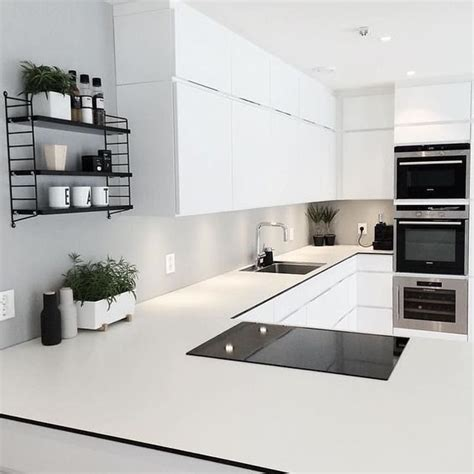 scandinavian home design instagram 34 timelessly elegant black and white kitchens digsdigs