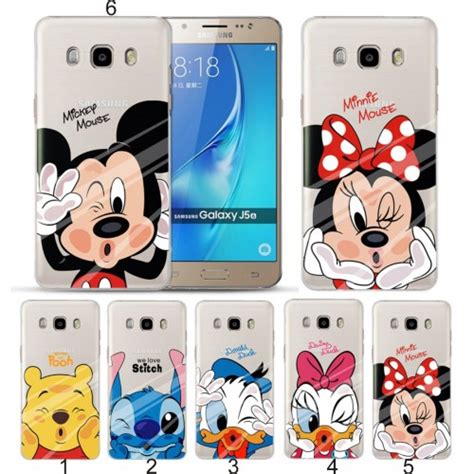Soft Disney For Samsung A7 2017 A720 Custodia Cover Tpu Minnie Mickey Stitch Per Samsung